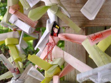 おみくじの紙人形