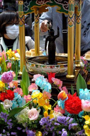 花御堂と灌仏