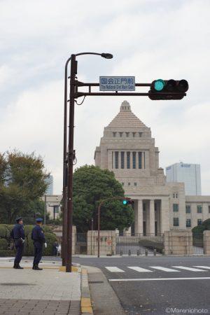 国会正門前