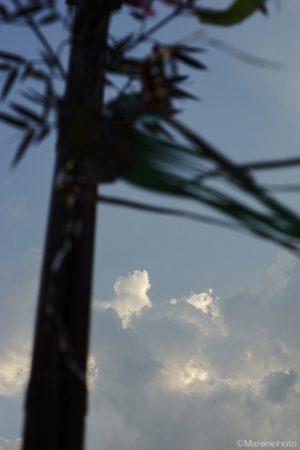 わき始めた雲