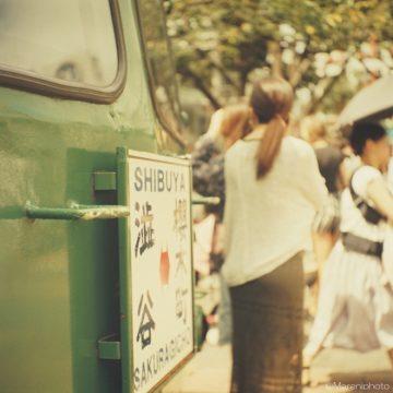 渋谷の古い電車