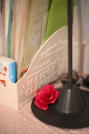 折り紙のバラ