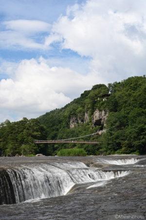 吹割の滝と吊り橋