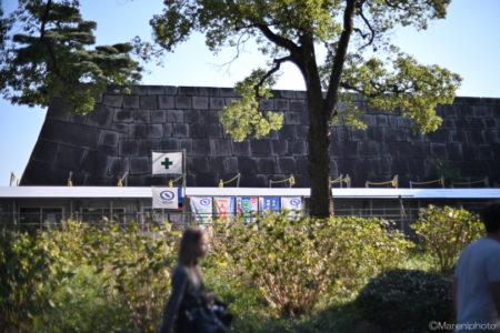 皇居東御苑の工事現場
