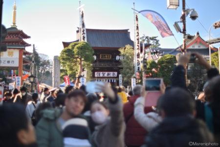 高幡不動の門前