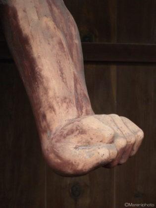 仁王様の手