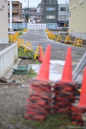 工事現場の道路