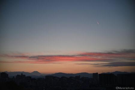 あかね雲の夕景