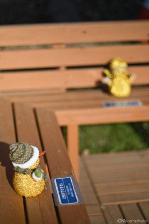 ソーシャルディスタンスのベンチ
